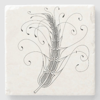 Grain Stalk Marble Coaster Stone Beverage Coaster