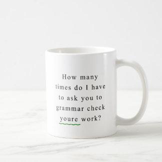 Grammar Check Basic White Mug
