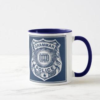Grammar Police correct and serve Mug