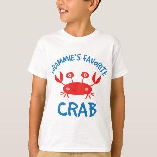 Grammies Favorite Crab (Grandchild) T-Shirt
