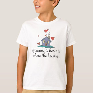 Grammy's Home is Where the Heart is T-Shirt
