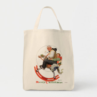 Gramps on Rocking Horse Grocery Tote Bag
