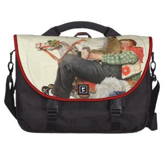 Gramps on Rocking Horse Computer Bag
