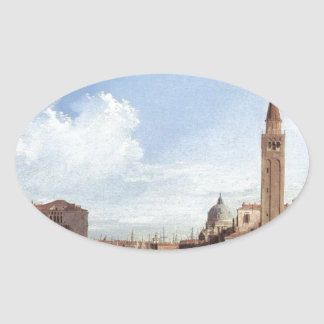 Grand Canal From Santa Maria Della Carita Oval Sticker