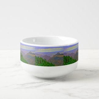 Grand Canyon In Cartoon Soup Bowl