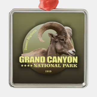 Grand Canyon NP (Bighorn) WT Silver-Colored Square Decoration