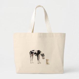 Grand Danois Harlequin Canvas Bags