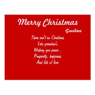 Grand mother christmas postcards