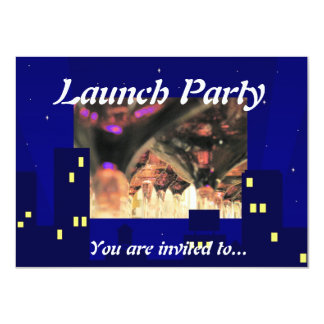 Grand Opening Launch Black tie party formal invite