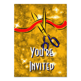 Grand Opening Launch gold party 11 Cm X 16 Cm Invitation Card