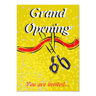 Grand Opening Launch gold party invitation 11 Cm X 16 Cm Invitation Card