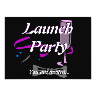 Grand Opening Launch party Black tie 11 Cm X 16 Cm Invitation Card