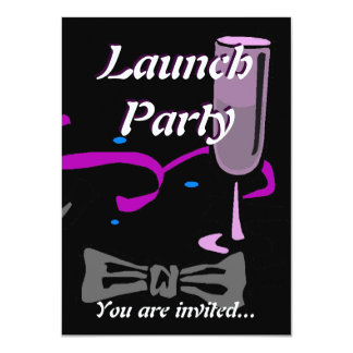 Grand Opening Launch party black tie formal 11 Cm X 16 Cm Invitation Card