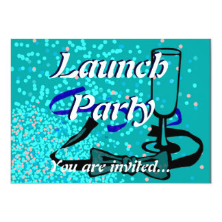 Grand Opening Launch party blue 11 Cm X 16 Cm Invitation Card