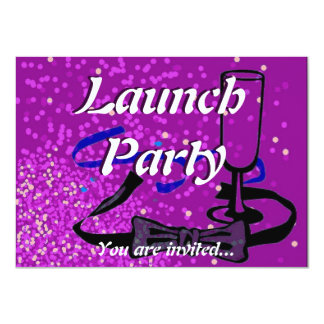 Grand Opening Launch party purple 11 Cm X 16 Cm Invitation Card