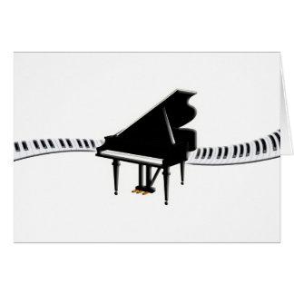 Grand piano and Keyboard Card