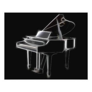 Grand Piano Musical Classical Instrument 11.5 Cm X 14 Cm Flyer