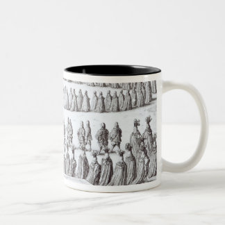 Grand Procession the Sovereign and the Knights Two-Tone Coffee Mug