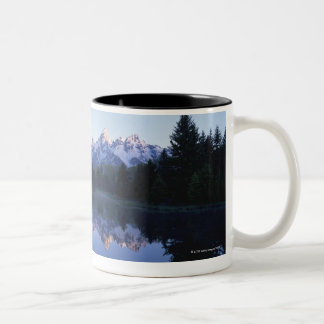 Grand Teton National Park, Teton Range, Wyoming, 3 Two-Tone Coffee Mug