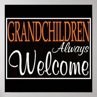 Grandchildren Always Welcome Poster