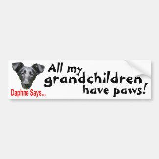 Grandchildren have paws~ bumper sticker