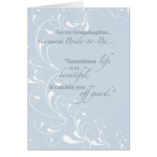 Granddaughter Bridal Shower Congratulations Light Greeting Card