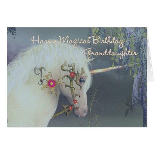 Granddaughter Unicorn Birthday Card Magical Birthd