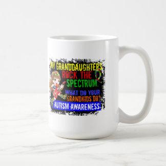 Granddaughters Rock The Spectrum Autism Basic White Mug