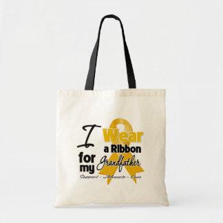 Grandfather - Appendix Cancer Ribbon Budget Tote Bag