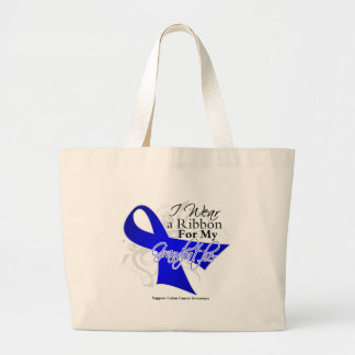 Grandfather Blue Ribbon - Colon Cancer Jumbo Tote Bag