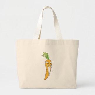 Grandfather Carrot Vegetable Jumbo Tote Bag