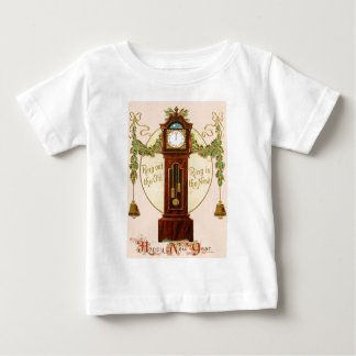 Grandfather Clock Holly Mistletoe Bell Baby T-Shirt