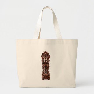 Grandfather Clock Large Tote Bag
