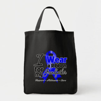 Grandfather - Colon Cancer Ribbon Grocery Tote Bag