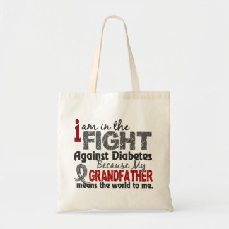 Grandfather Means World To Me Diabetes Budget Tote Bag