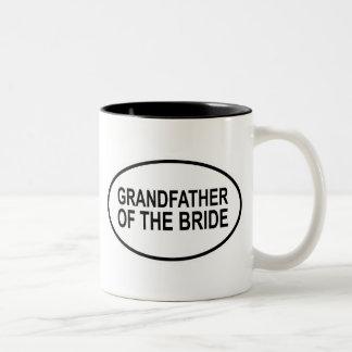 Grandfather of the Bride Wedding Oval Two-Tone Coffee Mug