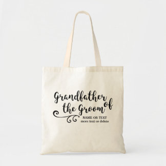 Grandfather of the Groom Tote Bag | Modern Script