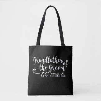 GrandFather of the Groom Tote Bag Modern Script