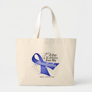 Grandfather Periwinkle Ribbon - Stomach Cancer Canvas Bag