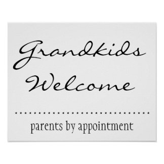 Grandkids Welcome Posters