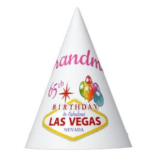 Grandma 65th Las Vegas Birthday Party Hat