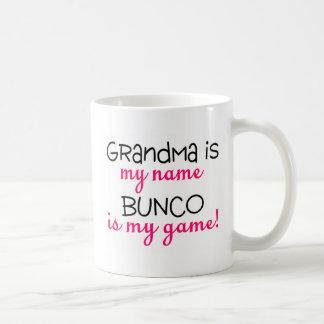 Grandma Is My Name Bunco Is My Game Basic White Mug