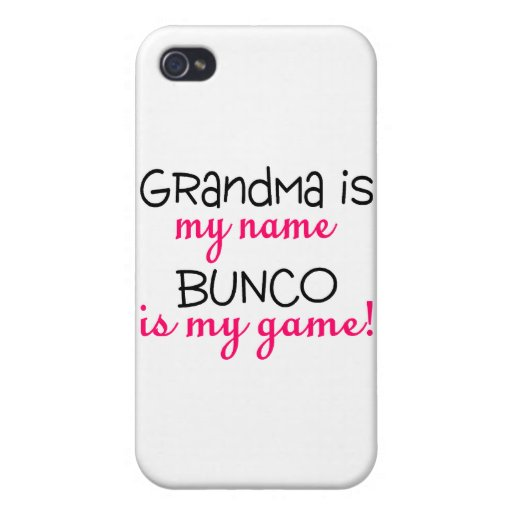 Grandma Is My Name Bunco Is My Game iPhone 4/4S Case
