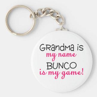 Grandma Is My Name Bunco Is My Game Key Ring