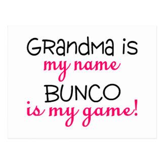 Grandma Is My Name Bunco Is My Game Postcard