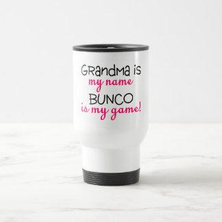 Grandma Is My Name Bunco Is My Game Stainless Steel Travel Mug