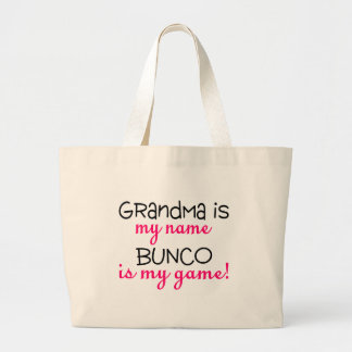 Grandma Is My Name Bunco Is My Game Canvas Bags