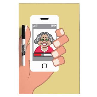 Grandma on the phone dry erase board
