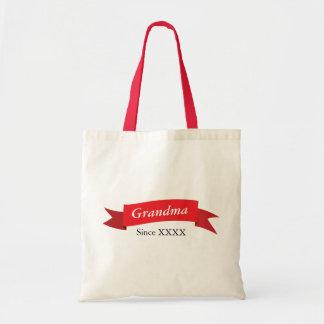 Grandma Since XXXX Budget Tote Bag