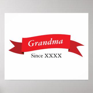 Grandma Since XXXX Poster